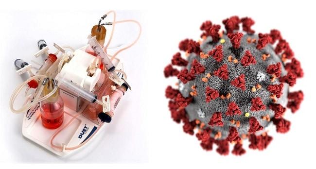 Hollow fibre bioreactor for virus production