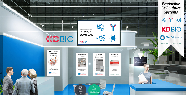 KDBIO virtual exhibition stand at ECI2021
